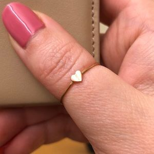 Catbird Rose Gold Heart Ring
